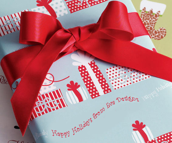 personalized gift wrap by mountain cow