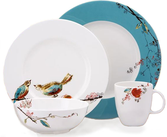 chirp bird lenox dinnerware