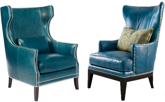 Blue Teal Accent Chairs