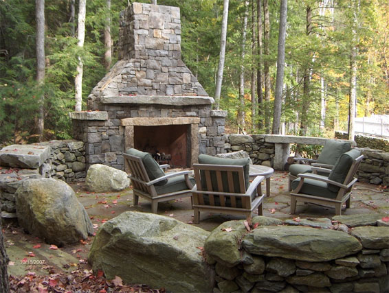 Outdoor fireplace in the Wilderness by Bnome