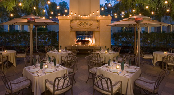 Hyatt Valencia California Outdoor Fireplace at the Vines