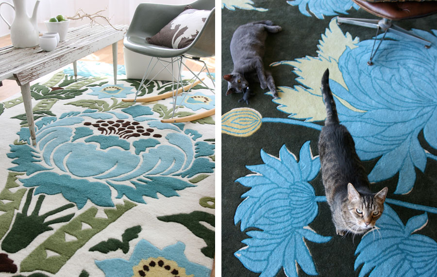 Amy Butler Rugs Coventry Chrysanthemum