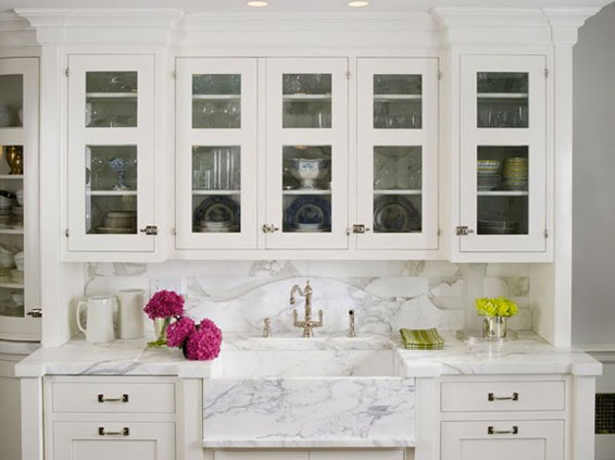 White Kitchen by Karen Williams in Calcutta Gold