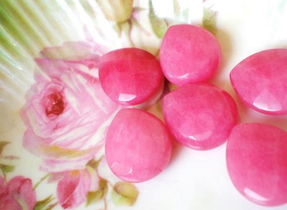 etsy gathering splendor pink jade stones