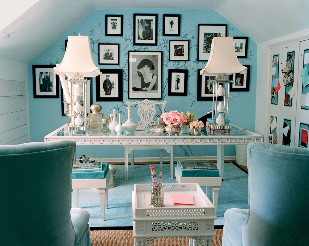 Mary Macdonald Tiffany Blue Office