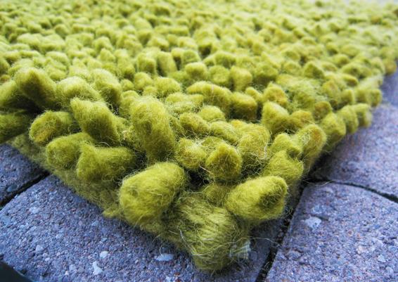 Surya Aros Chunky Green Rug Lime Green