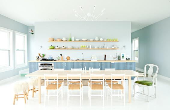 Cape Breton Cottage Kitchen European style fresh