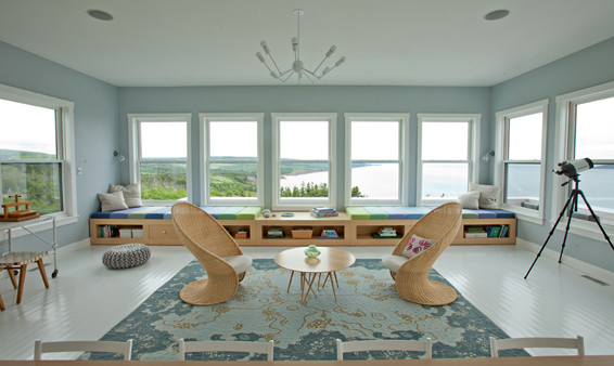 Cape Breton Living Room Cottage Angles