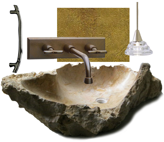 Get This Look Billy Benson stone vanity basin
