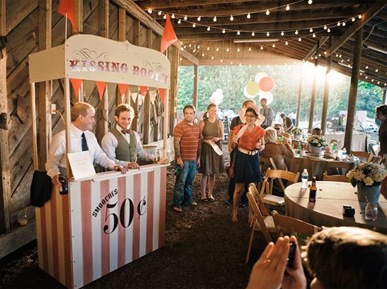 Kissing booth Carnival wedding