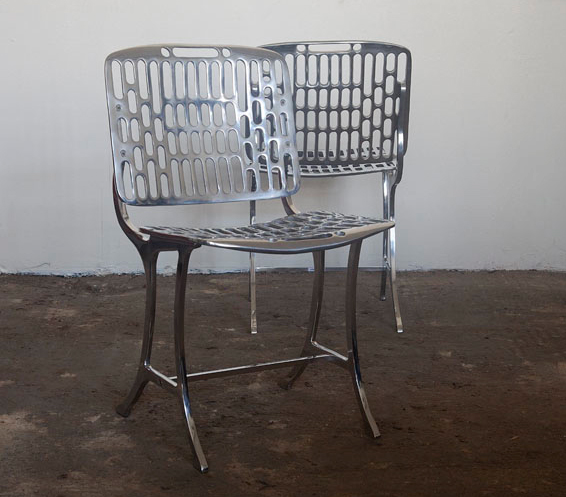 Aluminum Chair by Strawser and Smith