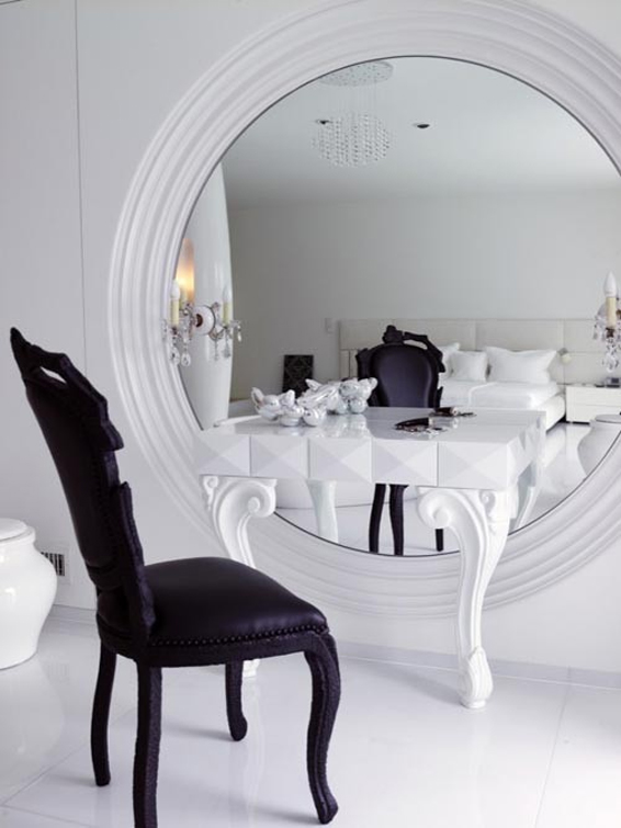 Large White Mirror vanity gorgeous