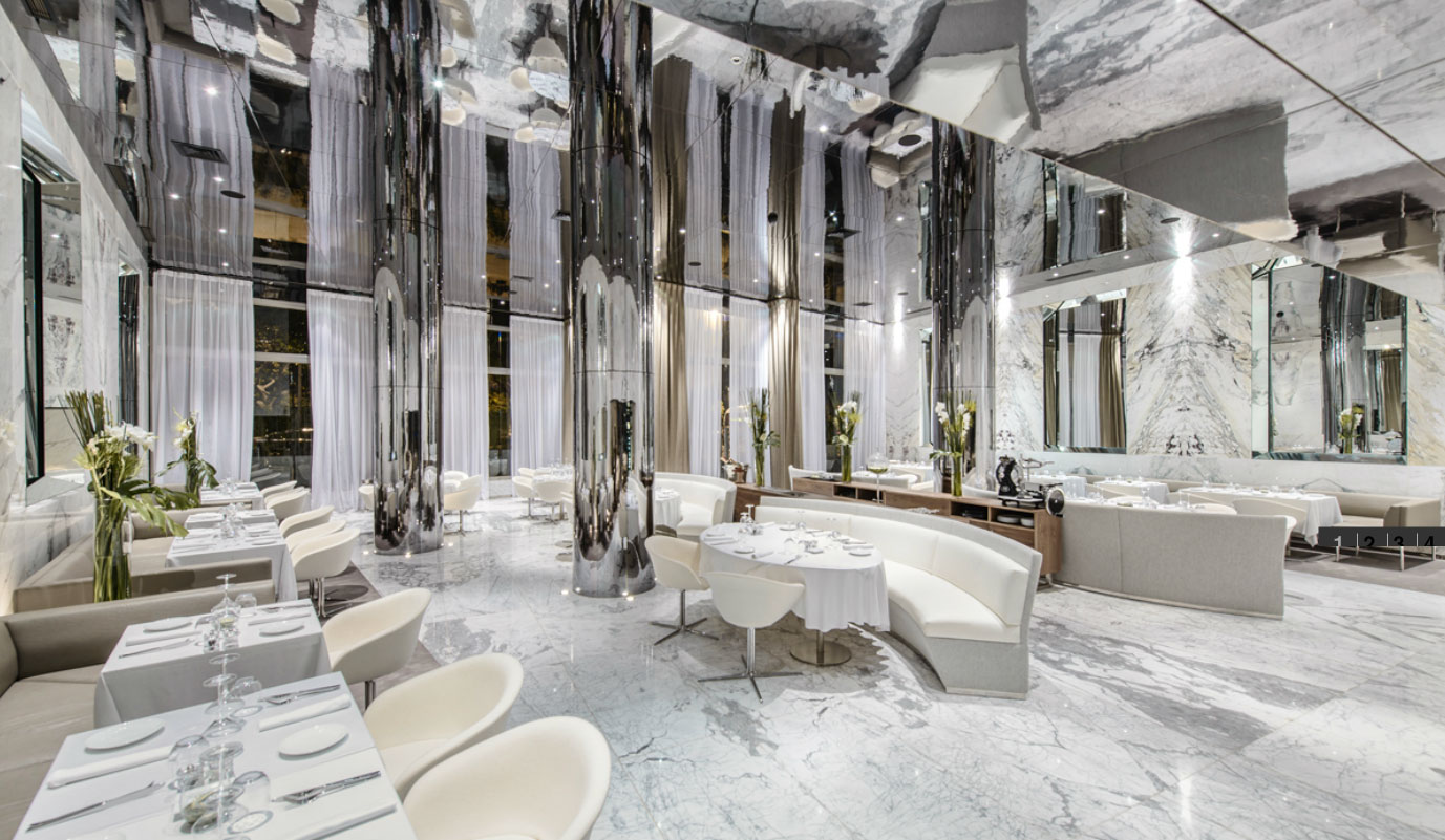 Maison blanche restaurant interior design inspiration for Maison design