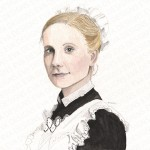Anna Downton Abbey painting by Eva Robertson
