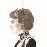 Lady Mary Downton Abbey painting by Eva Robertson