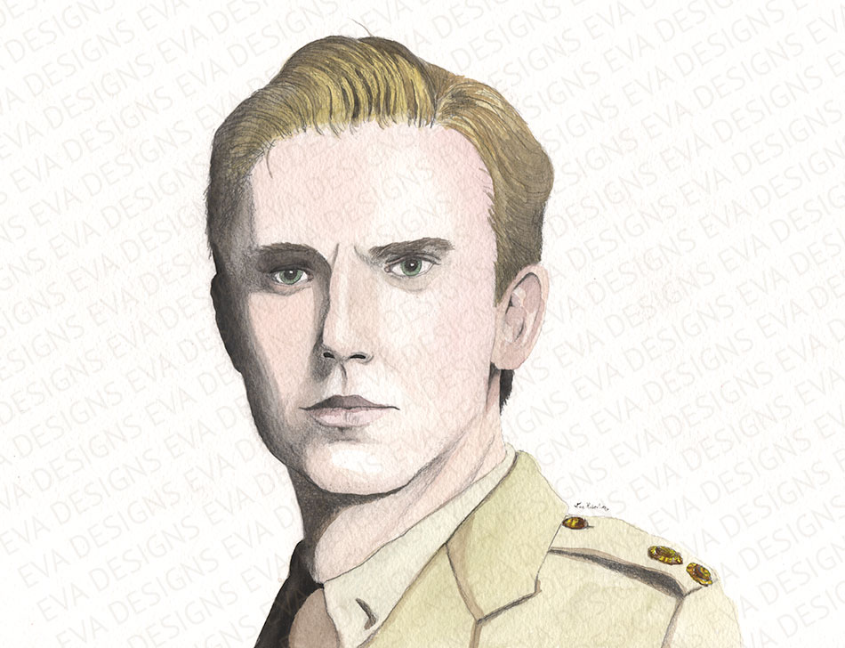 Downton Abbey Matthew Crawley painting by Eva Robertson