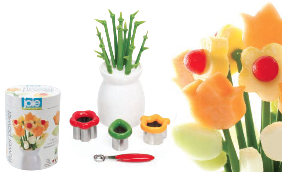 flower power deco vase, fruit cookie cutters