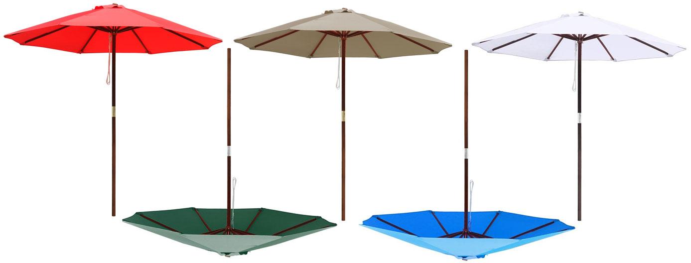 Wooden Market Patio Umbrella
