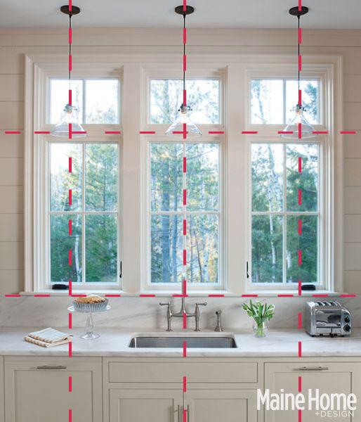 Kitchen Window Pendant: Harmonious Alignment – Interior Design Inspiration