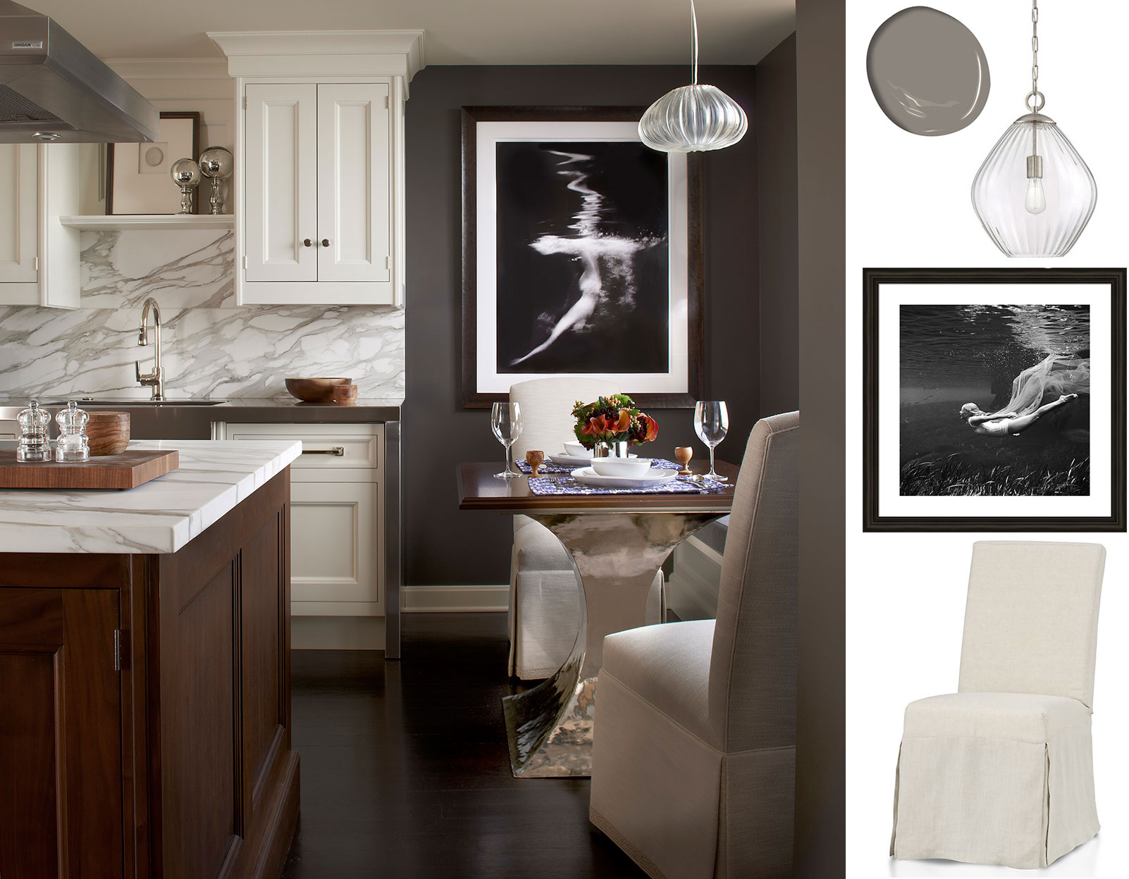 Luxury kitchens by clive christian interior design inspiration eva - The Image Above Is A Kitchen Design By Frank Ponterio See The Use Of A Seductively Darker Paint Colour To Envelope The Small Dining Area Just Steps Away